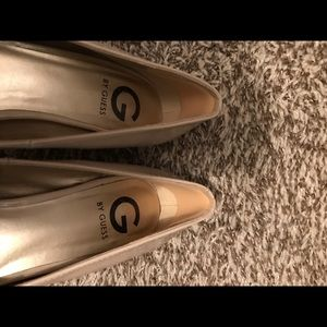 Guess Shoes - G by Guess nude patent platform heels